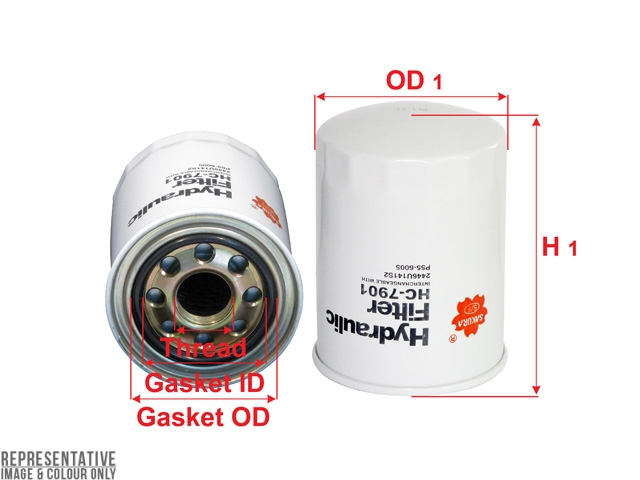 HC-7901 - Hydraulic Oil Filter - Sakura Filters Equivalent