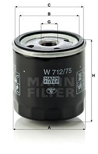 EM-10001 - Oil Filter W 712/75