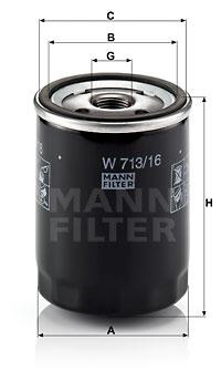 EM-10002 - Oil Filter W 713/16