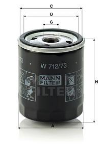 EM-10005 - Oil Filter W 712/73
