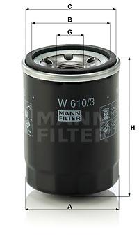 EM-10008 - Oil Filter W 610/3