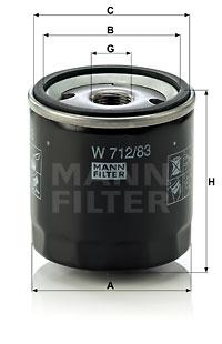 EM-10016 - Oil Filter W 712/83